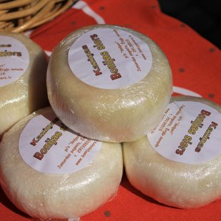 White Bonija`s goat cheese for those who prefer a delicate tasting goats cheese without an